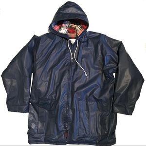 Navy blue Misty Harbor rain coat